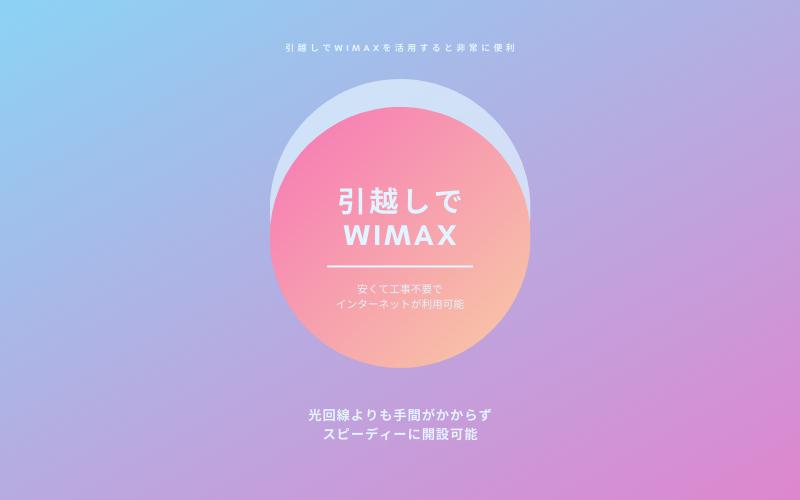 引越しでWiMAXを契約