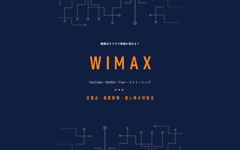 WiMAXで動画は見れる